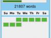 Die erste Woche beim Nanowrimo mit 20000 Wörtern.