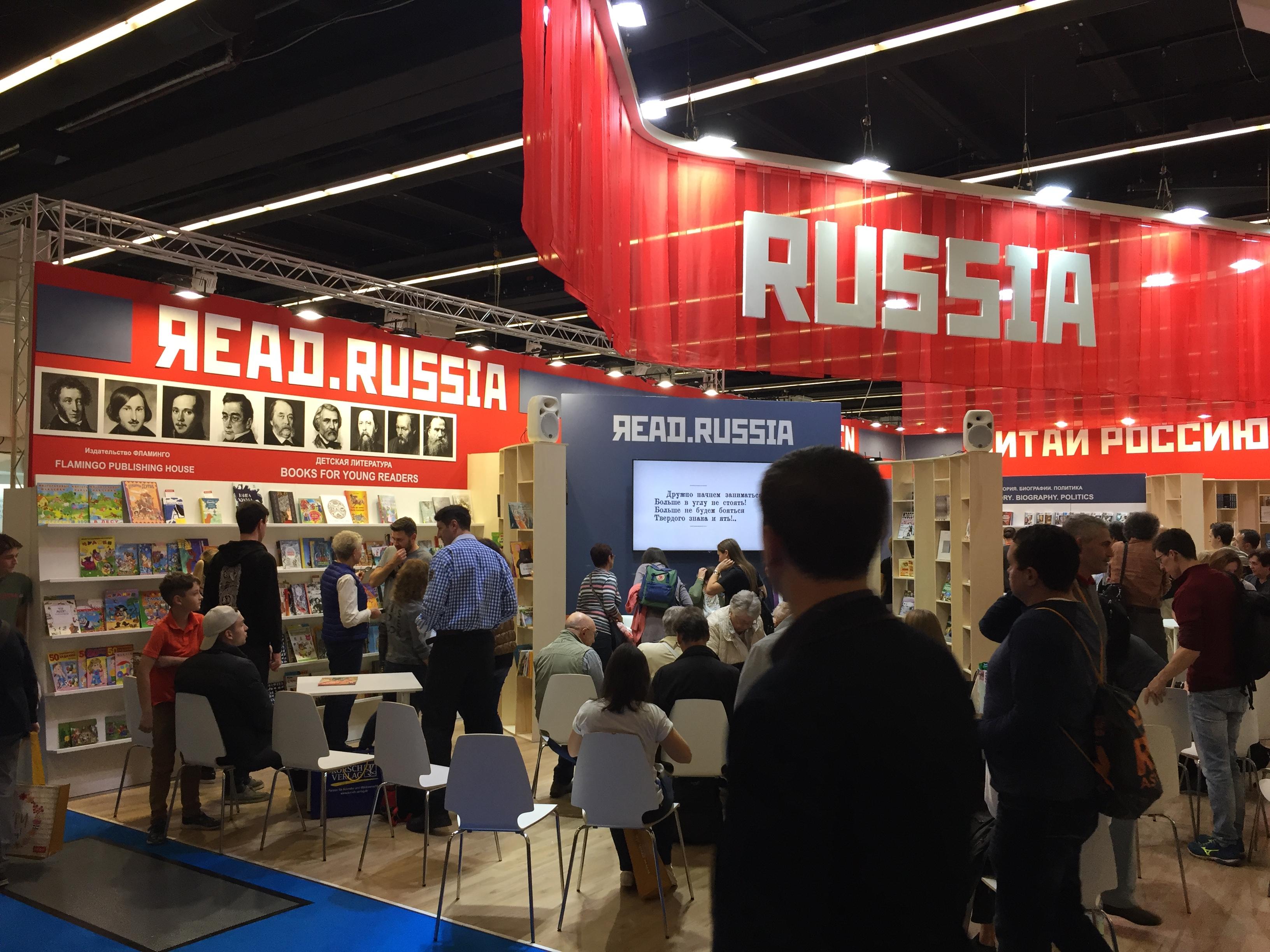 Russischer Stand im sowjetischen Retro-Stil