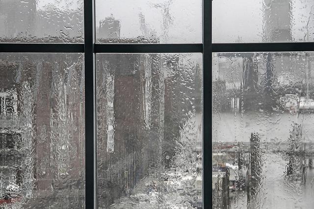 Der verregnete Blick aus dem Fenster